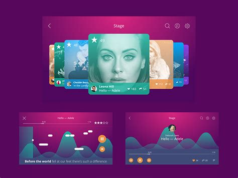 design karaoke app color scheme for interface light or dark ui design4users