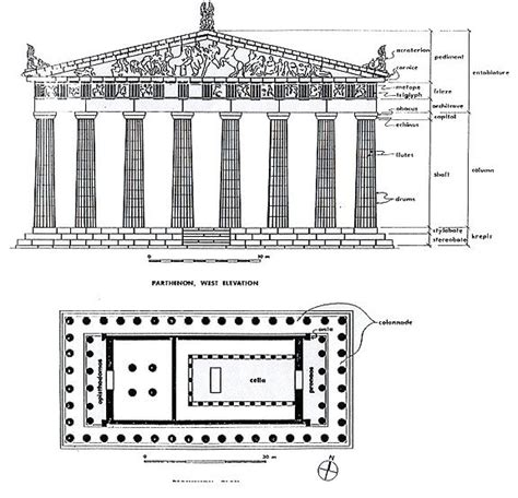 parts of a floor plan 25 best ideas about parthenon architecture on pinterest