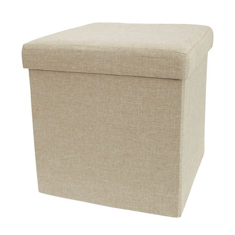 folding storage ottoman rectangle multifunctional linen folding square storage box ottoman