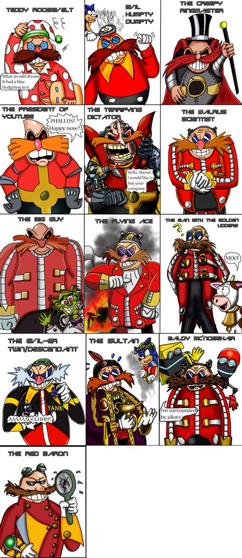 Rsby 103 Pajamas Robot doctor robotnik eggman throughout the ages by luke the f0x on deviantart