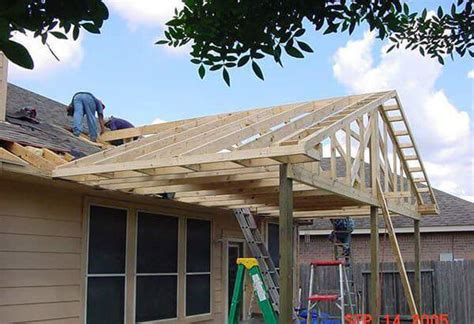 diy covered porch plans roofing low pitch roof for building a gable pergola attached to the house decor