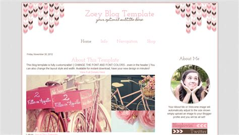 layout blog vintage cute blog template pink boho design blogger