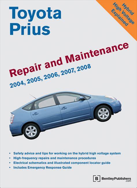 Toyota Prius Manual Front Cover Toyota Prius Repair And Maintenance Manual