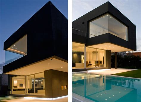 mansion houses the black house by andres remy arquitectos architecture design