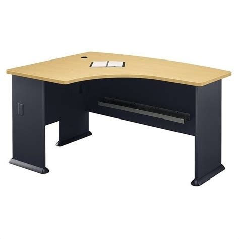 Beech Corner Desk Bush Bbf Series A 60x44 Lh L Bow Corner Desk In Beech Wc14333