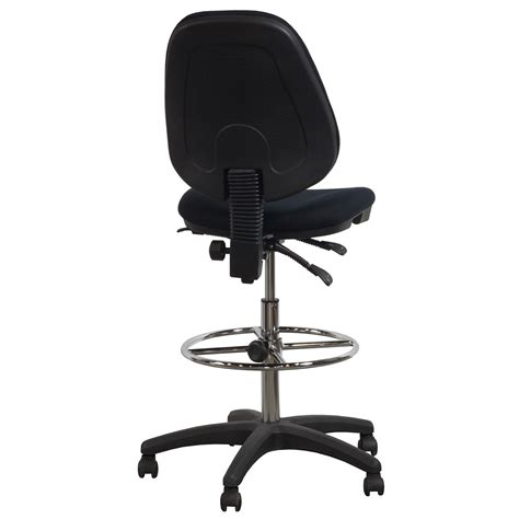 Drafting Stool Black by Flash Furniture Used Armless Ergonomic Drafting Stool