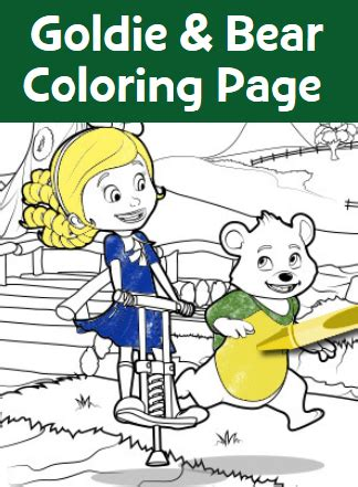 goldie bear coloring pages free goldie and bear coloring pages thrifty momma ramblings