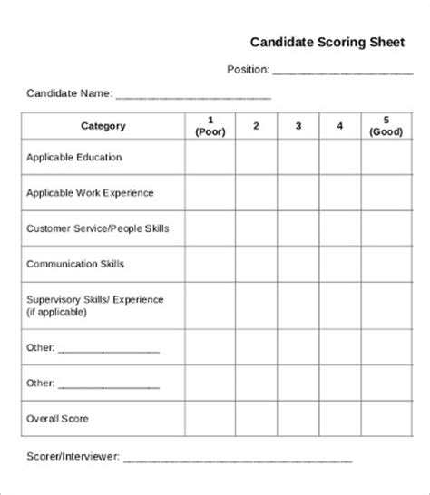 Score Sheet Template 26 Free Word Pdf Documents Download Free Premium Templates Quiz Competition Score Sheet Template