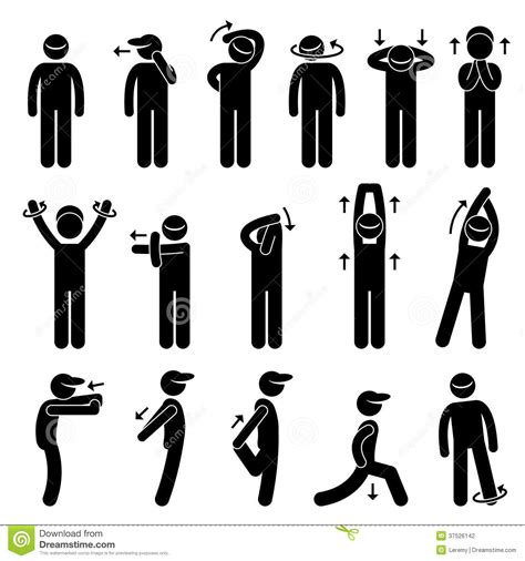 stickman exercise diagrams exercise stick figure pictogram ic stock