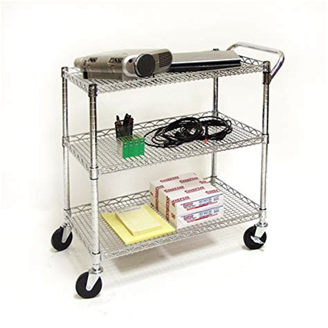 Seville Classics Kitchen Utility Cart With Bamboo Top by Seville Classics Industrial All Purpose Utility Cart Nsf