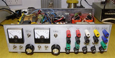 high voltage bench power supply some home made equipment