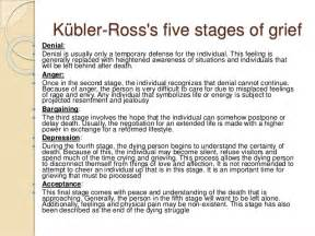 K 252 bler ross s five stages of grief denial denial is