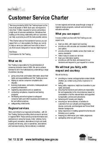 customer care charter template dwp local