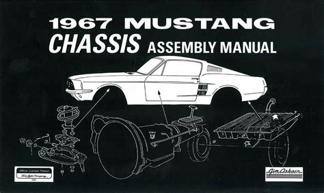 vehicle repair manual 1980 ford mustang security system 1967 ford mustang chassis assembly manual rebuild instructions illustrations oem ebay