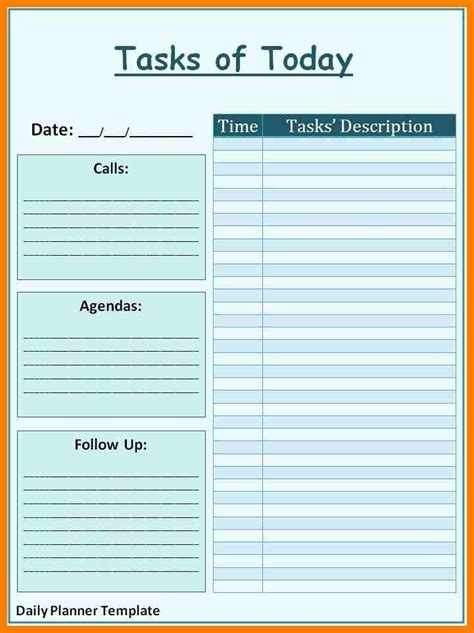 business planner template 7 free daily planner template lease template