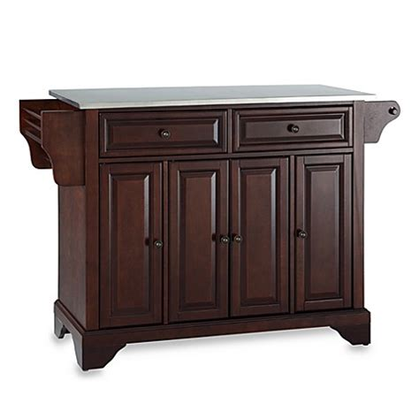 stainless top kitchen island crosley lafayette stainless steel top kitchen island bed bath beyond