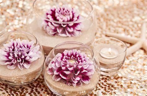diy flower sand wedding centerpieces