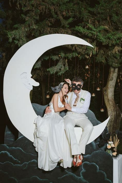 picture   vintage crescent moon wedding backdrop  clouds   night sky   wedding