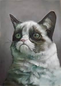 Oil Painting Meme - gumpy cat oil painting by anthropoceneman meme center