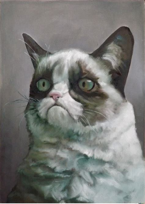 Oil Painting Meme - gumpy cat oil painting by anthropoceneman meme center