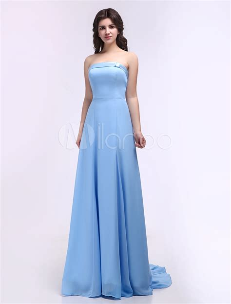 light blue satin dress robe de demoiselle d honneur bleu ciel en chiffon