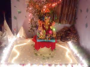 Water Decorations Home Ganpati Decoration Ideas Ganesh Chaturthi Ganpati