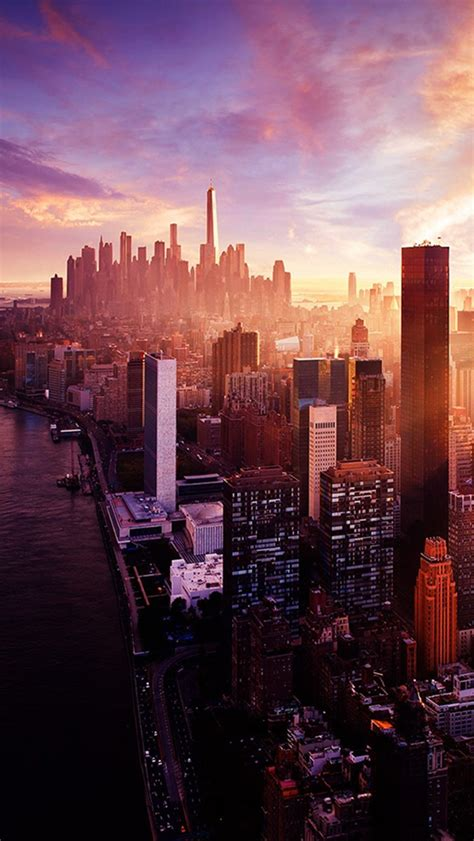 wallpaper for iphone 6 new york new york sunset city skyline iphone 5 wallpaper hd free