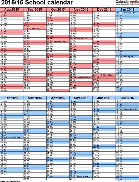 For College Alg Syllabus Template 5 School Year Calendar 2015 16 As Excel Template Portrait Orientation Calendar Template