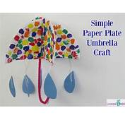 How To Make An Umbrella Craft Using A Paper Plate Letter U Activity