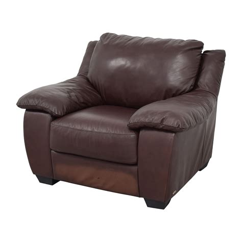 used armchair 84 off italsofa italsofa brown leather plush armchair