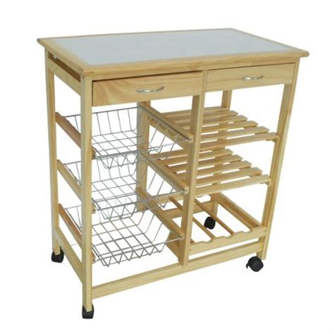 kitchen bench trolley kitchen cutting table trolley chopping bench wine rack 2