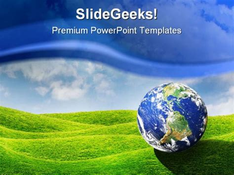 Planet Earth Globe Powerpoint Template 0910 Globe Powerpoint Template