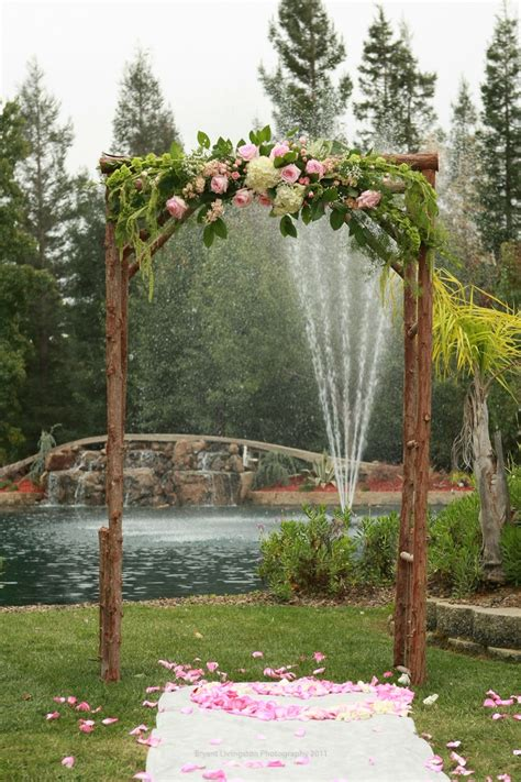 Wedding Arch Wooden by Rustic Simple Wedding Arch Vintage Backdrops Photo