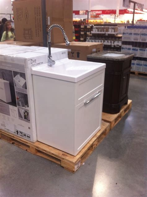 costco utility sink with cabinet can i use a utility sink in basement bathroom