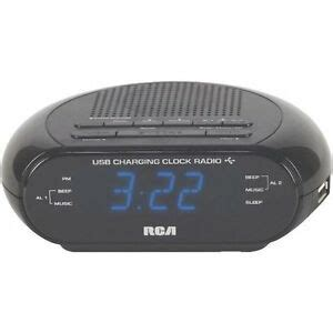 usb dual alarm clock radio battery backup free shipping 44476086526 ebay