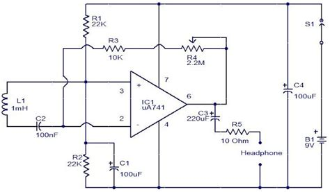 inductor in an lifier circuit emf sensor circuit using op gadgetronicx