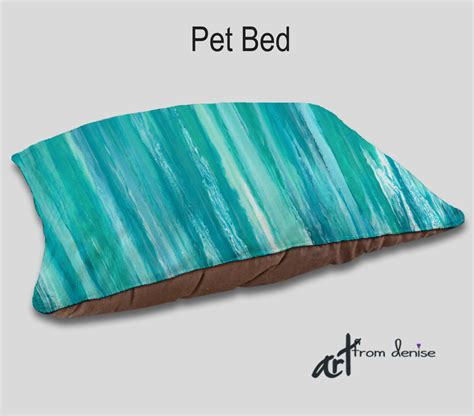 turquoise dog bed designer pet bed dog bed aqua teal turquoise blue home