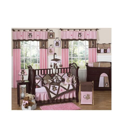 sweet jojo designs crib bedding sweet jojo designs teddy bear pink 9 piece crib bedding set