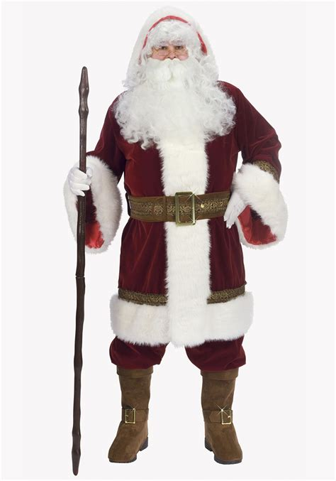 deluxe father christmas santa costume mens santa claus