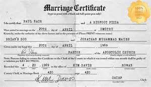 Marriage License Kentucky Marriage License Generator Make Your Own Lovewins