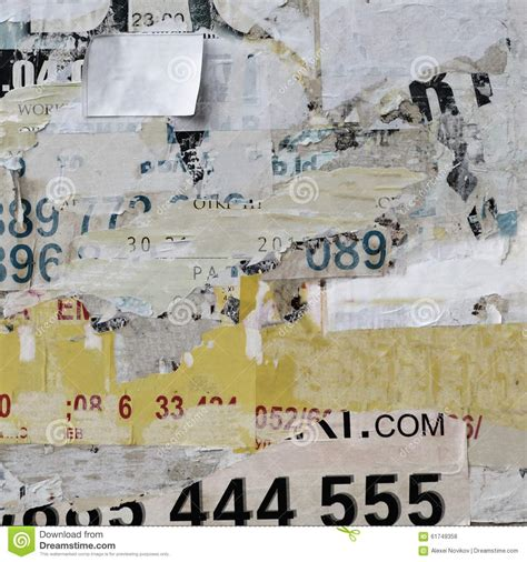 How To Make A Poster On Paper - billboard with torn paper posters texture or vertical