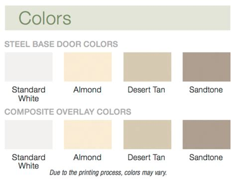 Superior Garage Door Stain Colors #2: Clopay_steel_colors.png