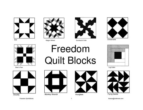 Printable Freedom Quilt Patterns | 177 best underground railroad quilt blocks images on pinterest