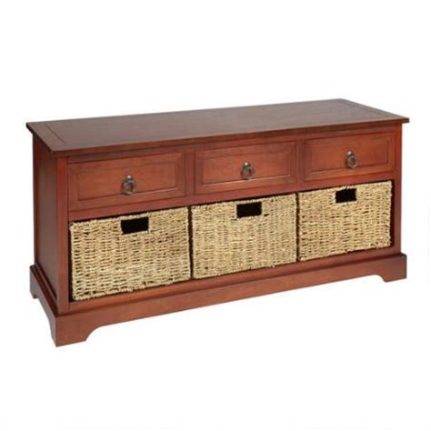 drawer storage bench hannah 3 drawer 3 basket storage bench christmas tree