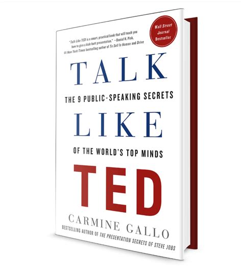 libro talk like ted the talk like ted the 9 public speaking secrets of the world s top minds gotsky