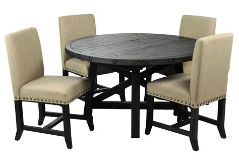 Dining Table And Upholstered Chairs Jaxon 5 Dining Set W Upholstered Chairs Living Spaces