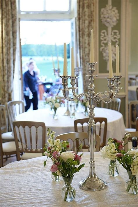 wedding table without chair covers   Bucks Candelabra Hire