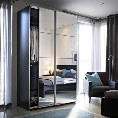 Sliding Mirror Closet Doors Ikea Auli Sliding Mirror Doors Mirrored Wardrobe And Glass Doors
