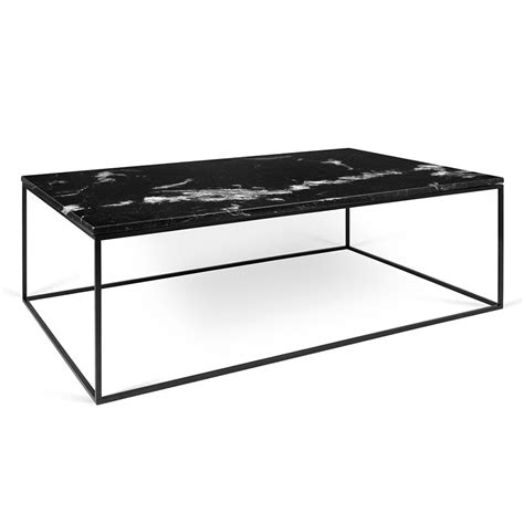 Temahome Gleam Black Marble Modern Coffee Table Eurway