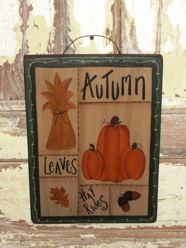 Primitive Handmade Crafts - primitive fall decor fall signs handmade crafts wood